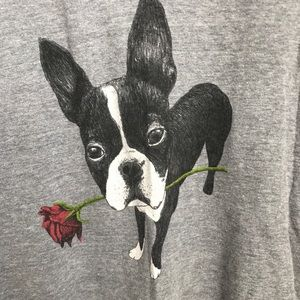 Gap + threadless french bulldog v neck tshirt